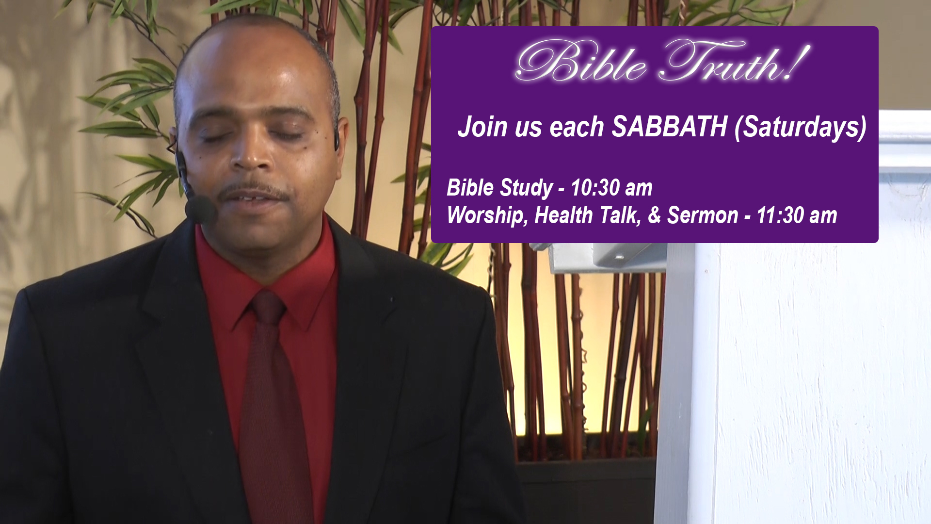 Weekly Church Sabbah Service