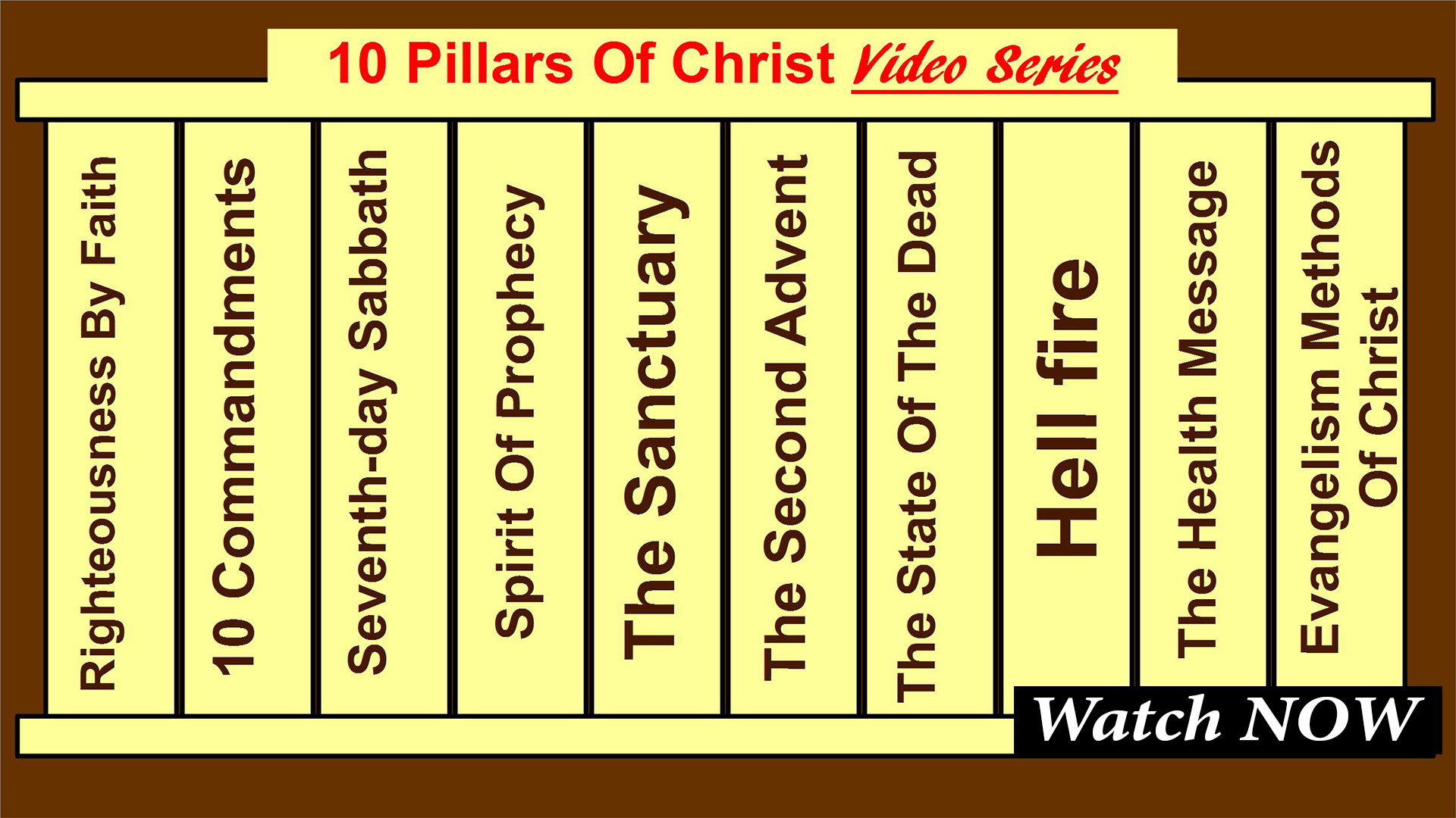 Ten Pillars of Christ Series